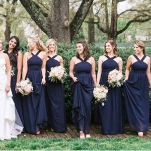 Lulu's Air of Romance Maxi Dress Navy